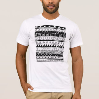 Black and white Tribal pattern T-Shirt