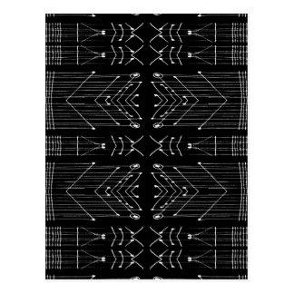 Black and White Tribal Postcard