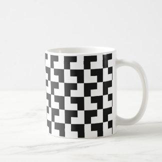 Black and white Tromino Coffee Mug