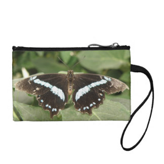Black and White Tropical Butterfly Bagettes Bag