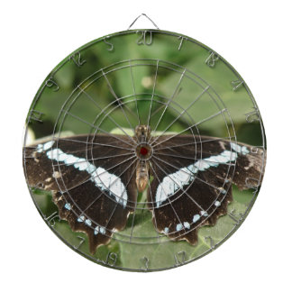 Black and White Tropical Butterfly Dart Board