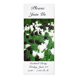 BLACK AND WHITE TULIPS (PHOTOG) CUSTOMIZABLE INVIT 10 CM X 24 CM INVITATION CARD