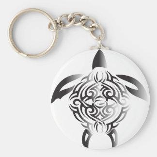 black-and-white-turtle key ring
