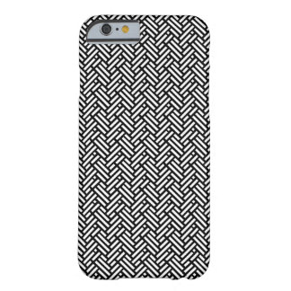 Black and White Tweed Pattern iPhone Case