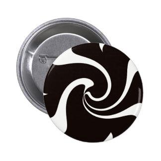 Black and White twist 6 Cm Round Badge