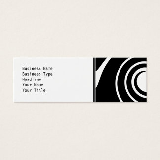 Black and White Twist. Mini Business Card