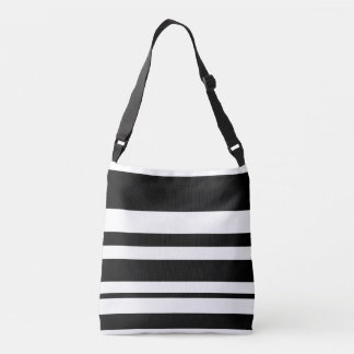 Black and white two-tone tote