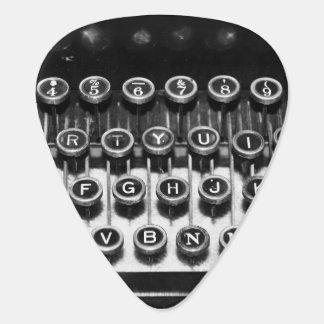 Black and White Typewriter Guitar Pick