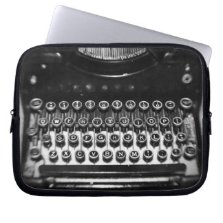 Black and White Typewriter Laptop Sleeve
