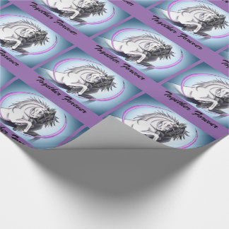 Black and White Unicorns: Together Forever Wrapping Paper