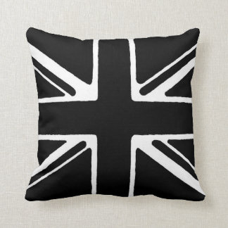 Black and white union jack cushion
