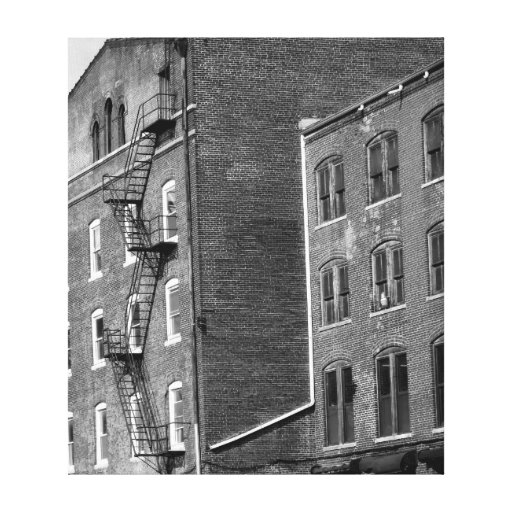 Black and White urban art Gallery Wrap Canvas
