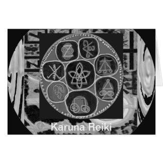 Black and White Version - Reiki n Karuna Greeting Card