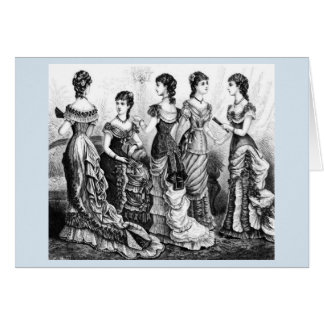 Black And White Victorian Fashions Greeting Card
