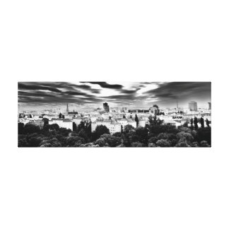 Black and White Vienna Landscape Canvas Print