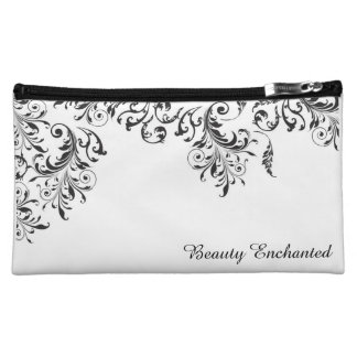 Black and White Vintage Beauty Cosmetic Bag