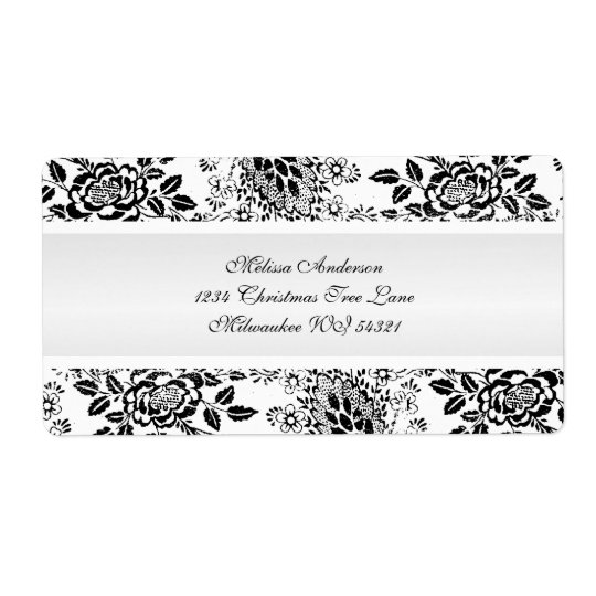 Black and White Vintage Damask Custom