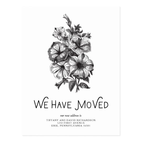 Black and White Vintage Floral | Change of