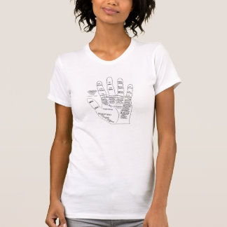 Black and White Vintage Palmistry Illustration Tshirt