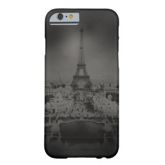 Black and White Vintage Paris and Eiffel Tower Barely There iPhone 6 Case