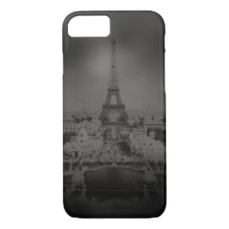 Black and White Vintage Paris and Eiffel Tower iPhone 7 Case