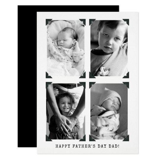 Black and White Vintage Photo Father's Day Card