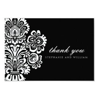 Black and White Vintage Wedding Thank You Card 9 Cm X 13 Cm Invitation Card