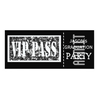 Black and white VIP Graduation party 10 Cm X 24 Cm Invitation Card