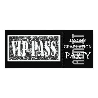 Black and white VIP Graduation party Personalized Invitation