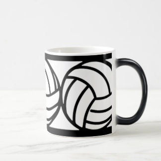 Black and White Volleyball Coffee Mug