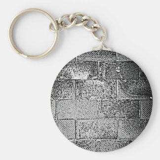 Black and White Wall. Digital Art. Key Ring