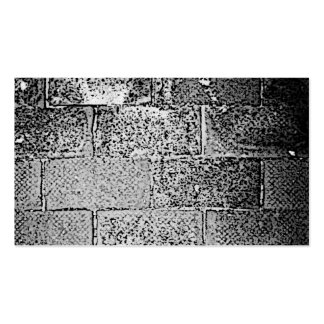 Black and White Wall. Digital Art. Pack Of Standard Business Cards