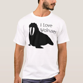 Black and White Walrus Tee