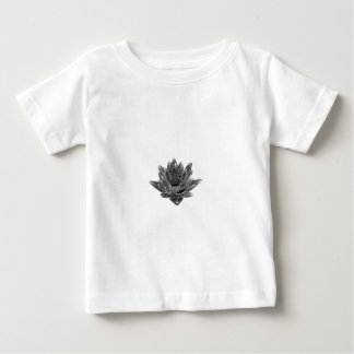 Black and White Water lily Baby T-Shirt