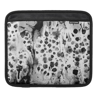 Black and white, water texture design, marbling iPad sleeve