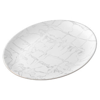Black and white, water texture design, marbling porcelain plates
