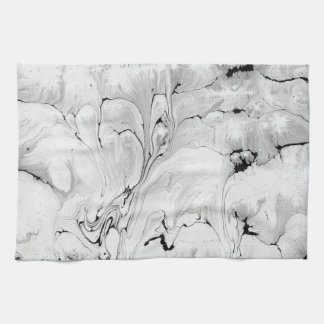 Black and white, water texture design, tea towel