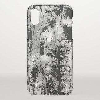 Black and white watercolor design iPhone x case