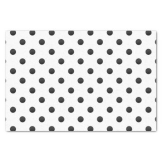 Black and White Watercolor Polka Dot Pattern Tissue Paper