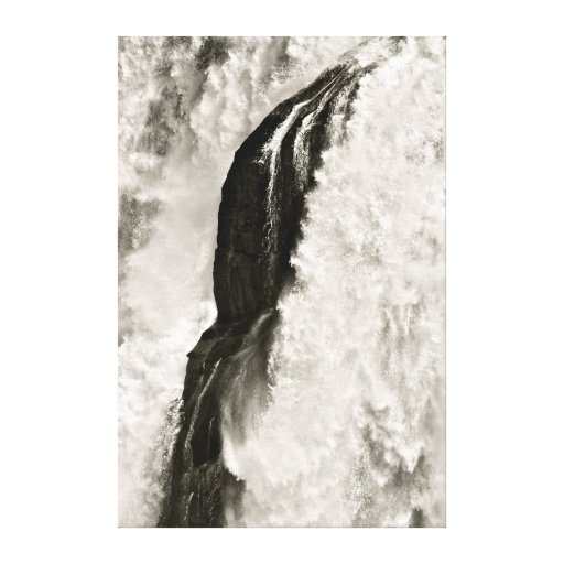 BLACK AND WHITE WATERFALL DETAIL CANVAS PRINT