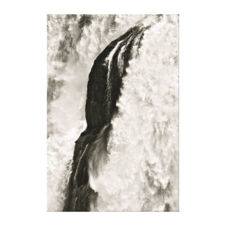 BLACK AND WHITE WATERFALL DETAIL GALLERY WRAP CANVAS