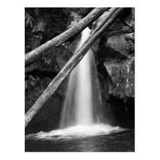 Black and white waterfall postcard