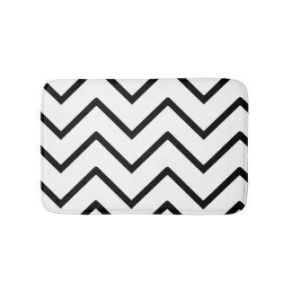 Black and White Waves Bath Mats