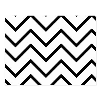 Black and White Waves Postcard