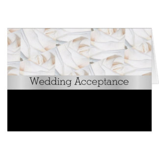 Black And White Wedding Acceptance Note Card