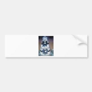 black and white wedding cake bumper stickers