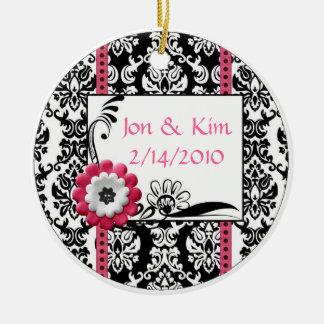 Black and white Wedding Favor Ornament