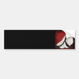 Black and White Wedding Gown Bumper Sticker