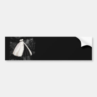 Black and White Wedding Gown Bumper Stickers