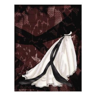 Black and White Wedding Gown 21.5 Cm X 28 Cm Flyer